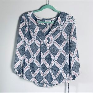 Laundry Diamond Print Flowy Top